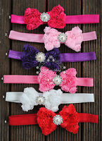 Stretch Chiffon Rosette Bow Baby Infant Kid Girl Headband Christening Photo Prop