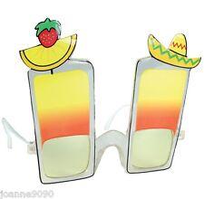 NOVEDAD Cóctel Sombrero Mexicano Hawaiian Gafas de sol Despedidas Soltero Playa