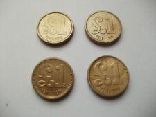 /pound Weekly Shopping Trolley/basket Changing Locker Token 4 X Plastic Coin