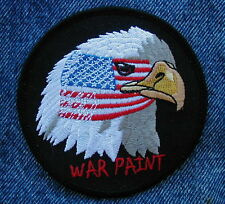 WAR PAINT AMERICAN EAGLE  Biker Motorcycle Patch from DIXIEFARMER
