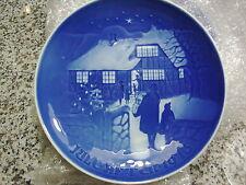 B & G Copenhagen Porcelain Country Christmas 9073 Plate 1973 Made In Denmark