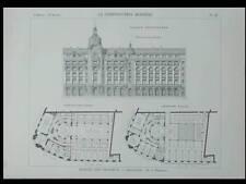 PARIS, 132 RUE REAUMUR - 1901 - PLANCHE ARCHITECTURE - JACQUES HERMANT