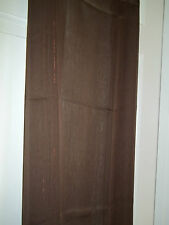 """NEW AMERICAN LIVING MIDNIGHT MIST BROWN 84"""" CURTAIN PANEL COPPER SHEER WINDOW"""