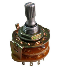 4 Pole 3 Position Rotary Switch Non-Shorting with Pointer Knob RBS1-4K