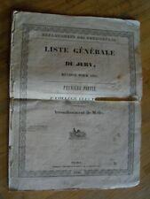 LISTE GENERALE DU JURY COLLEGE ELECTORAL MELLE DEUX-SEVRES 1840