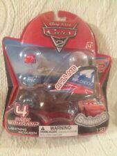 Disney Squinkies CARS 2 Series 2 London 4 Pack W/ Ramp Unopened