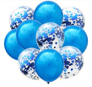 "12"" Inch Confetti Balloons Glitter Baloons Wedding, Baby Shower,Birthday love UK"