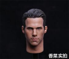 HOT FIGURE TOYS 1/6 Deadpool headplay Ryan Reynolds Custom