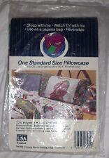 Rare New Sealed Vintage Barney Pillowcase Purple Dinosaur Standard Usa Cute