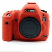 Silicone Body Bag Cover Case Skin For Canon EOS 5D Mark III 5D3/5DS/5DR RED