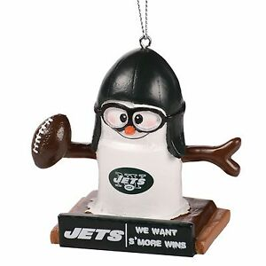New York Jets Smores Christmas Tree Ornament - We Want Smore Wins - Thematic