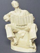 Große Rosenthal Porzellan Figur Ziehharmonikaspieler sign. Kelling 1935 H. 25 cm