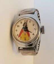 "Vintage Disney ""Snow White"" 1960 USA Watch Chrome Band Is Working & Keeping Time"
