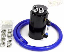 Black Alloy Oil Catch Tank Can Blue 19 mm PANTALON VW AUDI SEAT SKODA 1.8 20 V Turbo