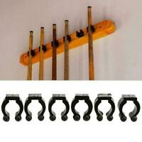 6 Pcs Billiard Stick Replacement Cue Racks Clips Black Rack For Pool F0C0