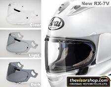 NEUF RX-7V original arai vas-v moto course casque visière Noir teinté