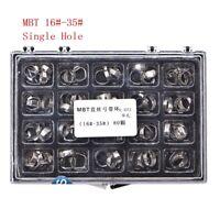 80Pcs Orthodontic Dental Molar Buccal Tube Bands MBT 022 16#~35# Stainless Steel