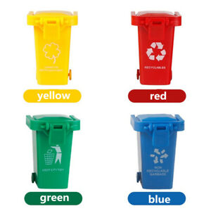 4Pcs/Set Mini Garbage Trash Can Toys Truck Cans Recycling Vehicle Bin Kids Toy