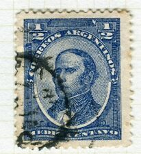 ARGENTINA; 1888 early Portrait issue fine used 1/2c. value