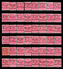 LOS ANGELES, CA Bureau Precancel #806-71 John Adams Stamps Lot of 48