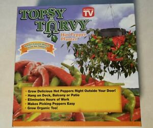 NEW TOPSY TURVY UPSIDE DOWN HOT PEPPER PLANTER~AS SEEN ON TV~FUN!