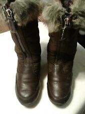 Lands End Brown Boots Size 11 - Fleece Lined