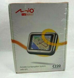 Mio DigiWalker C220 Portable Car Navigation System with GPS *Sealed
