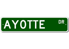 AYOTTE Street Sign - Personalized Last Name Sign