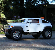 12V Ride On Kids Toy Car Truck Hummer HX w/ RC Parent Remote Control - White