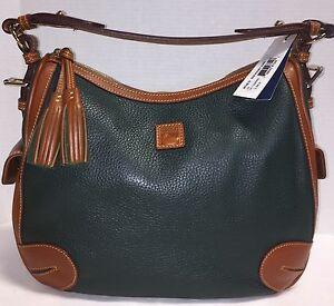 NWT*Dooney & Bourke*Leather Dillen*Ivy Green* Side Pocket Hobo Bag*16318H