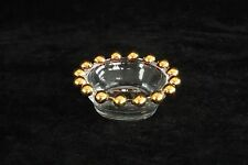 IMPERIAL GLASS CRYSTAL GOLD CANDLEWICK PATTERN OPEN SALT CELLAR DIP DISH