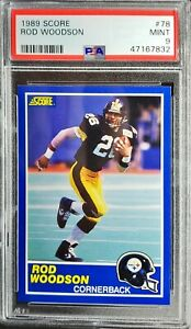 1989 Score Rod Woodson RC PSA 9 Mint HOF, All- Time Great! Great Looking Card!!