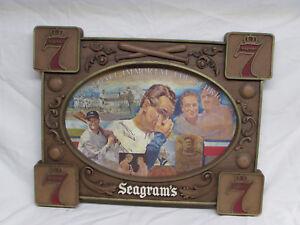 Lou Gehrig Baseball Immortal Farewell Speech Vintage Cardboard sign Seagrams 7