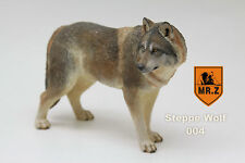 Steppe wolf Hand Painted Resin Figurine Statue 1:6 simulation model  A004