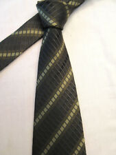 DOUBLE TWO GREEN STRIPED 3.75 INCH POLYESTER NECK TIE