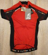 Funkier Force Kids Short Sleeve Jersey Red/Black Size 14| SALE | RRP £29.99