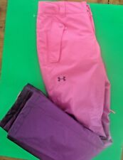 WOMENS UNDER ARMOUR SKI SNOWBOARD PANTS OMBRE PINK PURPLE XS NEW