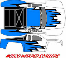 8580 WARPED SCALLOPS Paint Mask RC Body Short Course  Durango Associated Losi