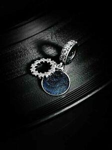 Genuine PANDORA Blue Inspirational Stars Pendant Charm Silver S925 ALE 798433C01