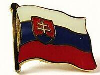 Slowakei Flaggen Pin Anstecker,1,5 cm,Slovakia,Neu mit Druckverschluss