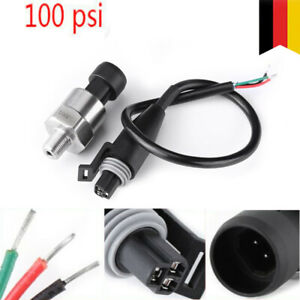 """0-100 psi Druckmessumformer Edelstahl Drucksensor Drucktransmitter 1/8""""-27 NPT"""