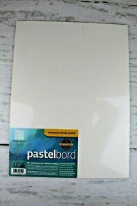 "Ampersand Museum Series Panel Pastelbord 12"" x 16"" White Handmade USA Sealed 3pk"