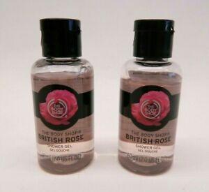 2 Pack NEW The Body Shop British Rose Shower Gel 4oz total
