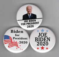 "JOE BIDEN For President 2020 buttons set campaign election 1-1/2"" pin pinback"