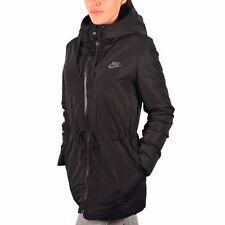WOMENS NIKE NSW DOWN FILL WINTER JACKET PARKA SIZE L (805080 010) BLACK