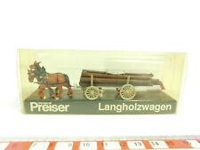 bd404-0,5 # Preiser H0/1:87 465 Carro di legno lungo (CAVALLO+RIMORCHIO) +