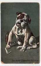 (La2401-180) No More Cigarettes for Mine, Bulldog, Used 1910 F-G