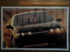 SUBARU SVX orig 1995 USA Mkt Very Large Format Sales Brochure
