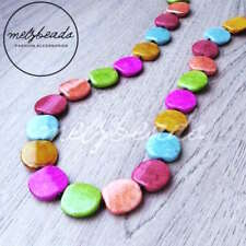 Women Fashion Statement Multi-Coloured Necklace Eclectic Ladies Resin Gift