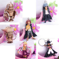 6pcs Anime ONE PIECE Key Ring Pendant PVC Action Figure Toy Keychain Gift
